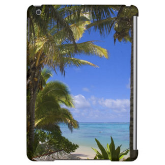 Palm lined beach Cook Islands 2 iPad Air Cases