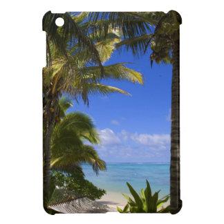 Palm lined beach Cook Islands 2 iPad Mini Covers