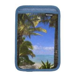Palm lined beach Cook Islands 2 iPad Mini Sleeve