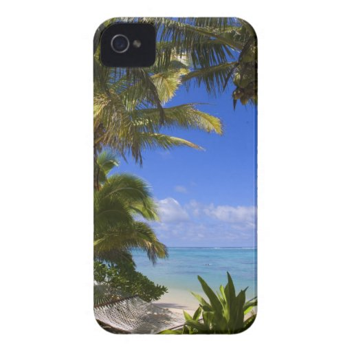 Palm lined beach Cook Islands 2 iPhone 4 Cover