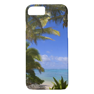 Palm lined beach Cook Islands 2 iPhone 7 Case