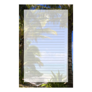 Palm lined beach Cook Islands 2 Stationery