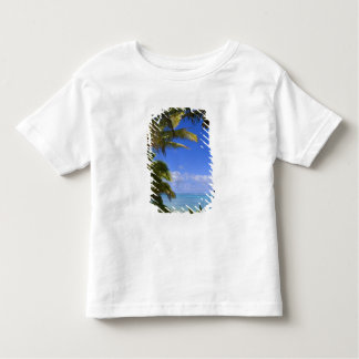 Palm lined beach Cook Islands 2 Toddler T-shirt
