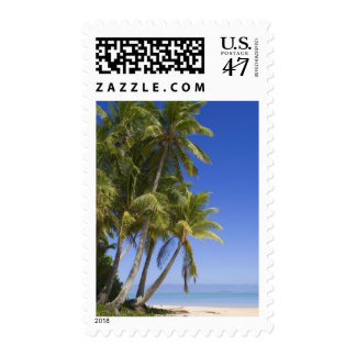 Palm lined beach Cook Islands 3 Postage