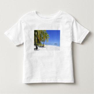 Palm lined beach Cook Islands 3 Tee Shirt