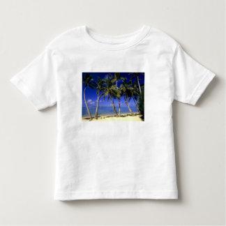 Palm lined beach Cook Islands 4 T-shirt