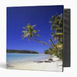 Palm lined beach Cook Islands 5 Binder