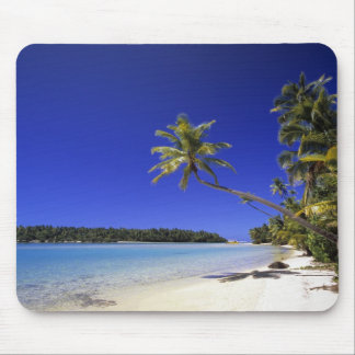 Palm lined beach Cook Islands 5 Mouse Pad