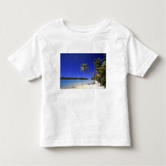 Palm lined beach Cook Islands 5 T Shirt