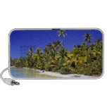 Palm lined beach Cook Islands 6 Travelling Speakers