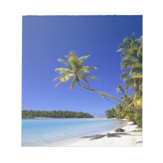 Palm lined beach Cook Islands Notepad