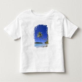 Palm lined beach Cook Islands T Shirt
