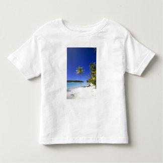 Palm lined beach Cook Islands Toddler T-shirt