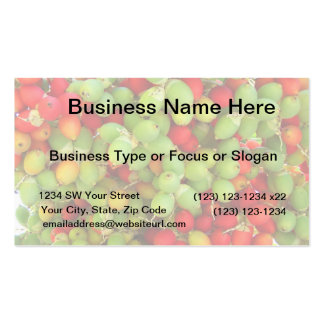 palm nuts green and red. business card