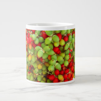 palm nuts green and red. extra large mugs