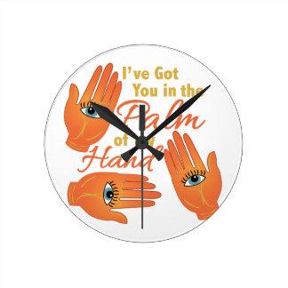 Palm Of My Hand Round Wallclock