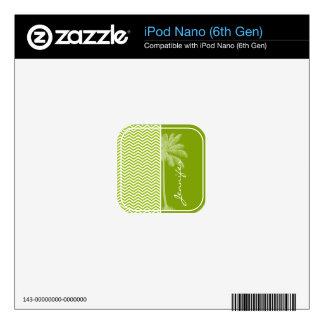 Palm on Retro Apple Green Chevron Stripes Skin For iPod Nano 6G