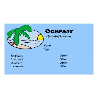 Palm Oval Logo Business Card Templates