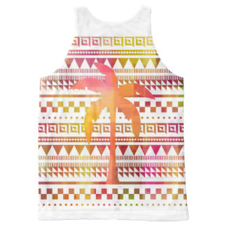 Palm over Patterns All-Over Print Tank Top