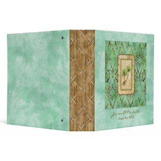 Palm Paradise Blue Green Photo Scrapbook Binder binder