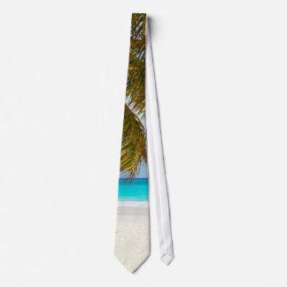 Palm Paradise Blue Sky Sunshine Tie