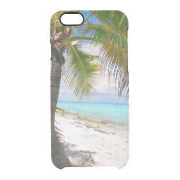 Beach Themed palm paradise clear iPhone 6/6S case