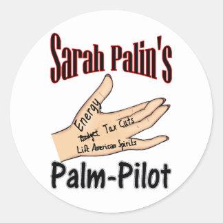 palm-pilot classic round sticker