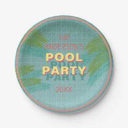 Palm Pool Party Plate