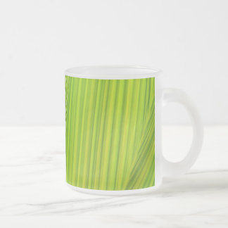 Palm Press Frosted Glass Coffee Mug