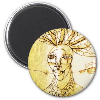 palm queen 2 inch round magnet