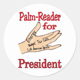 Palm Reader Classic Round Sticker