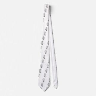 Palm Reader Print Psychic Gypsy Neck Tie