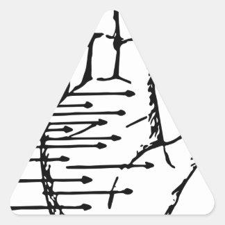 palm reader triangle sticker