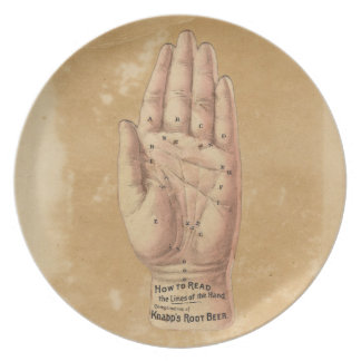 Palm Reading Plate