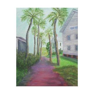 PALM ROW Canvas Print