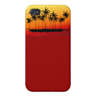 Palm Shadows at Sunset Covers For iPhone 4
