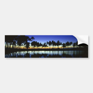 palm_silhouette_big_island_hawaii car bumper sticker