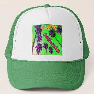 """Palm Sky: I LOVE California 2"" Hat"