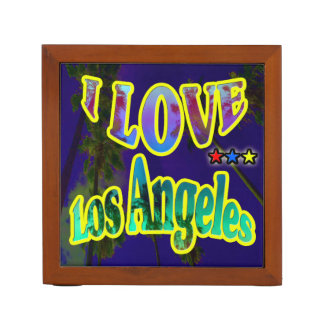 """""""Palm Sky: I LOVE Los Angeles 4"""" Desk Organizer"""