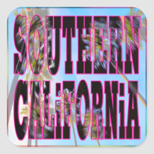 """Palm Sky: Southern California"" Sticker"