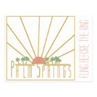 Palm Springs Bachelorette Invitation Postcard