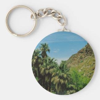 Palm Springs Basic Round Button Keychain