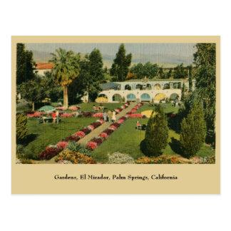 Palm Springs CA del EL Mirador de los jardines Tarjeta Postal
