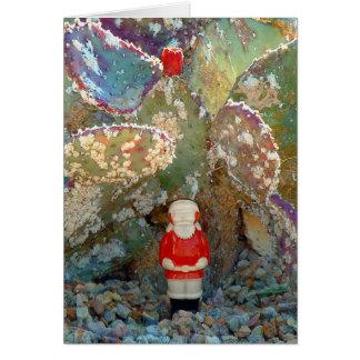Palm Springs Cactus Garden Santa Greeting Cards
