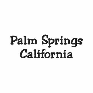 Palm Springs California Embroidered Polo Shirt
