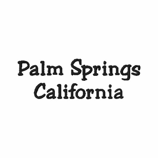 Palm Springs California Embroidered Polo Shirt !!!