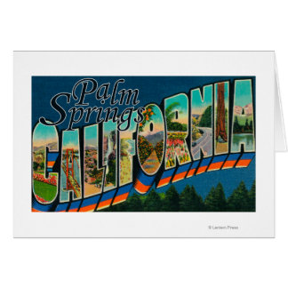 Palm Springs California - Large Letter Scenes Cards