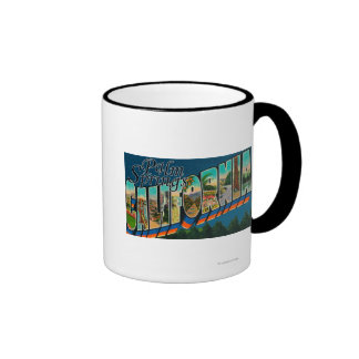 Palm Springs, California - Large Letter Scenes Coffee Mug