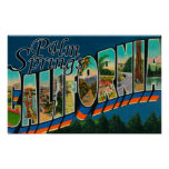 Palm Springs, California - Large Letter Scenes Poster