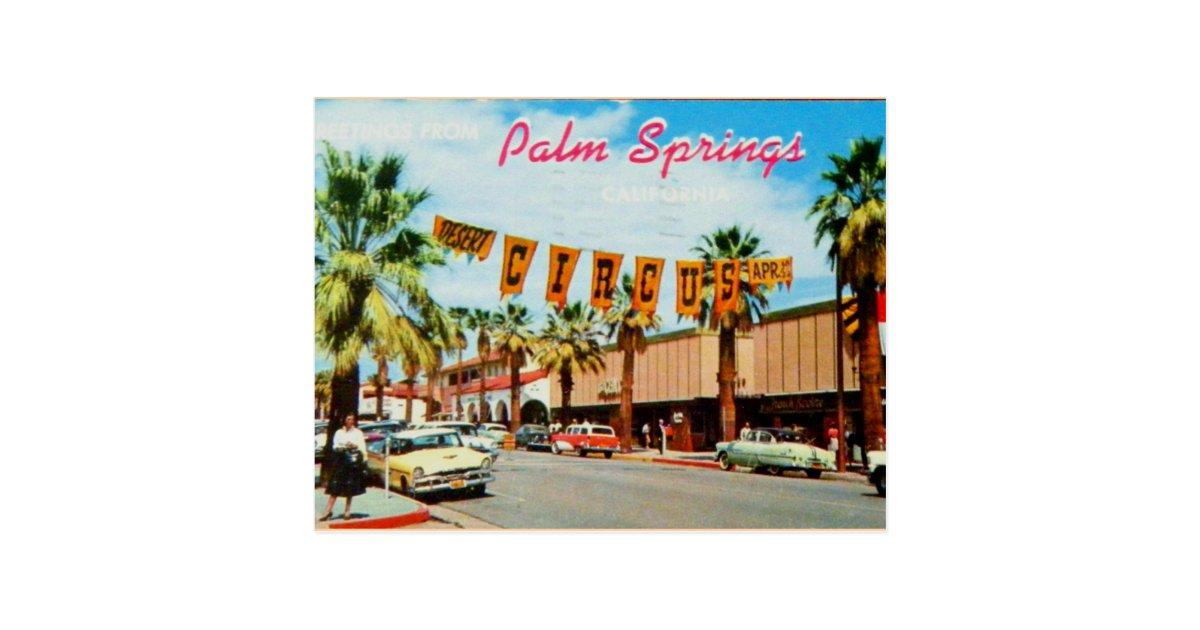 Palm Springs California Vintage Postcard Zazzle Com